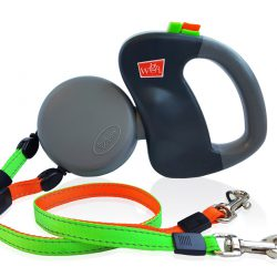 Wigzi dual-doggie duo-rollijn retractable and reflective dual dog leash V2
