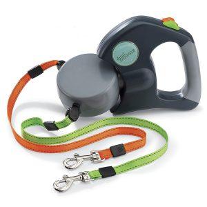 Wigzi dual-doggie duo-rollijn - retractable dual dog leash